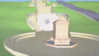 Бювет с головой льва и зона любви с богиней Венерой... Проекты реконструкции парка «Богоявленский» | Корабелов.ИНФО image 1