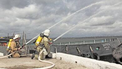 В СМП «Октябрьск» ліквідували умовну пожежу на морському буксирі «Витязь» | Корабелов.ИНФО image 1
