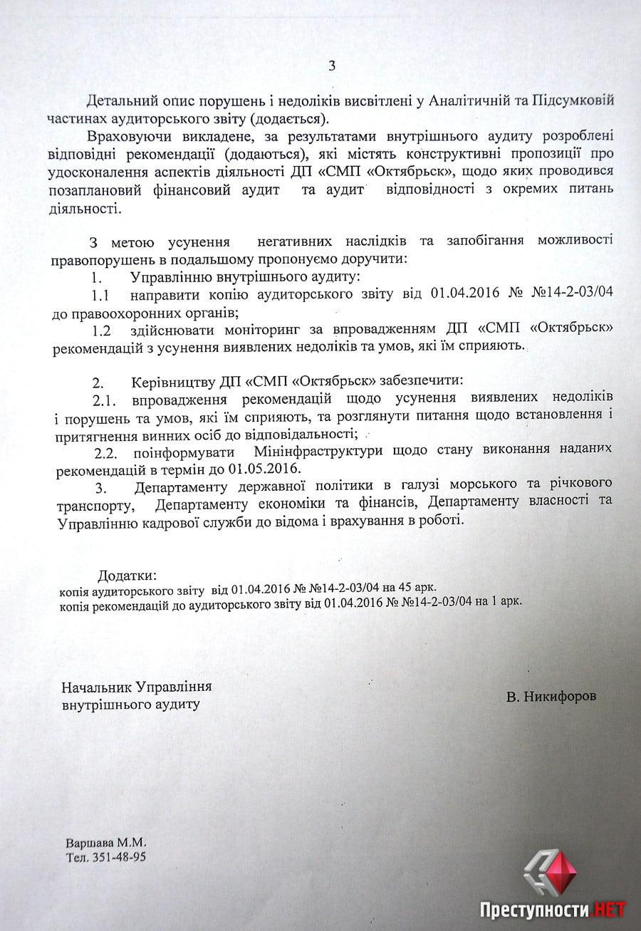 Из-за бездействия экс-руководства спецпорт «Октябрьск» может потерять 77 миллионов гривен, - результаты аудита   Корабелов.ИНФО image 1