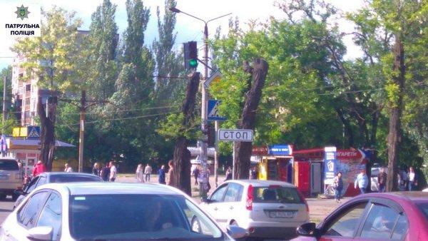 Патрульна поліція заявила про погану видимість дорожніх знаків та світлофорів через гілки дерев | Корабелов.ИНФО image 3