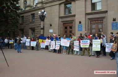 Депутаты от «Самопомощи» и активисты пикетировали мэрию против незаконных будок | Корабелов.ИНФО image 3