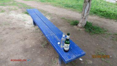 «Нам не сложно», - полицейские убрали бутылки за парнями, распивающими спиртное на детской площадке (ВИДЕО) | Корабелов.ИНФО image 1