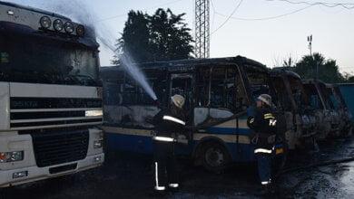 Photo of В Миколаєві у пожежі знищено шість маршрутних автобусів (Відео)
