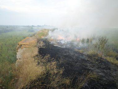 В Корабельном за сутки - более 5 пожаров на открытых территориях. Жители снова тушили траву на пустыре за школой № 48 (ВИДЕО) | Корабелов.ИНФО image 6