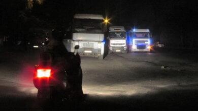 Николаевские активисты до самой ночи пытались предотвратить нарушения со стороны грузового транспорта   Корабелов.ИНФО image 1