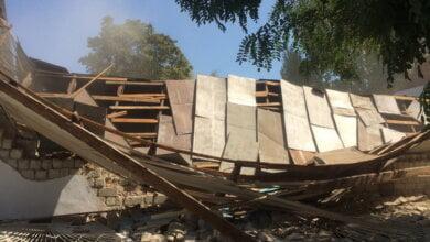 Через 3 часа после визита комиссии в вечернюю школу в Корабельном районе рухнула стена спортзала (ВИДЕО) | Корабелов.ИНФО image 4