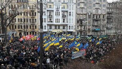 В Киеве сторонники Саакашвили устроили митинг – они выступают за перевыборы Верховной Рады   Корабелов.ИНФО