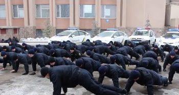 Миколаївські поліцейські теж віджимались, що привернути увагу до проблем ветеранів бойових дій (ВІДЕО) | Корабелов.ИНФО