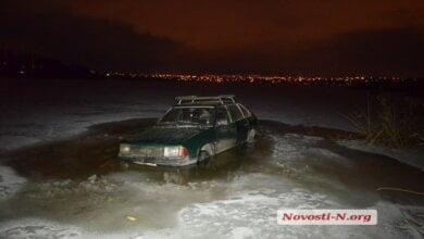 В Николаеве провалился под лед автомобиль   Корабелов.ИНФО