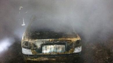 На территории частного домовладения в Балабановке сгорел автомобиль   Корабелов.ИНФО image 1