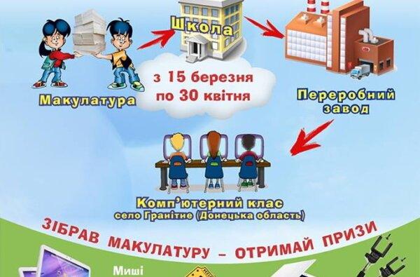 Школьники в Николаеве соберут макулатуру, чтобы купить донецким детям компьютерный класс. Акция проходит и в Корабельном | Корабелов.ИНФО