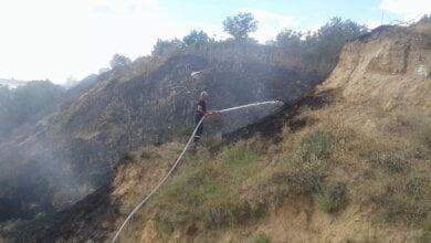 В Лиманах два дні поспіль горить трава на березі. Староста села вважає, що хтось навмисно підпалює | Корабелов.ИНФО image 1
