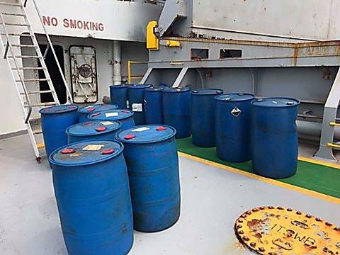 Photo of На теплоходе из Гвинеи, прибывшем в порт у НГЗ, обнаружены нелегальные химические вещества