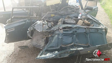 На трассе в Витовском районе «ВАЗ» лоб в лоб столкнулся с иномаркой - пострадало три человека | Корабелов.ИНФО image 1