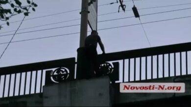 Девушка спасла любимого, пытавшегося покончить с собой, прыгнув с моста в Николаеве (видео) | Корабелов.ИНФО