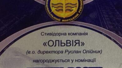 Второй год подряд коллектив СК «Ольвия» занимает I место в номинации «Темпы роста» Национального морского рейтинга   Корабелов.ИНФО