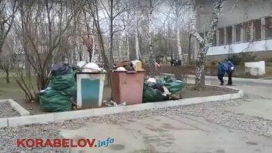С территории школы в Корабельном районе уже около двух недель не вывозится мусор (ВИДЕО) | Корабелов.ИНФО