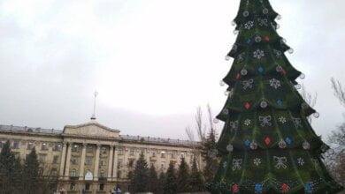 В Николаеве установили главную городскую ёлку   Корабелов.ИНФО