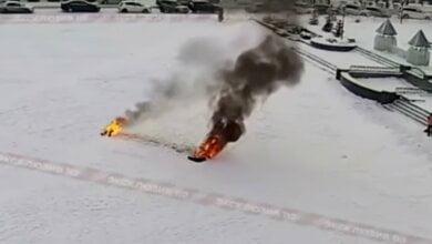 В России уволенный чиновник совершил акт самосожжения. ВИДЕО 18+   Корабелов.ИНФО