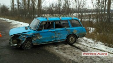 ДТП на трассе к НГЗ: «Деу» оказался в кювете после столкновения с ВАЗом | Корабелов.ИНФО image 1