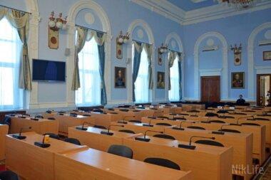Депутаты не смогли собраться на сессию Николаевского горсовета 9 января