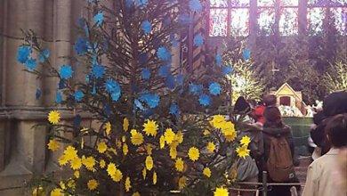 В Чехии установили сине-желтую новогоднюю елку с названиями городов оккупированного Донбасса   Корабелов.ИНФО image 1