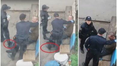 Новая полиция: в Украине девушка-патрульная прямо на улице била задержанного (видео) | Корабелов.ИНФО