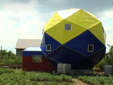Николаевец создал дом в виде двенадцатигранника и отдаст его под реабилитационный центр участникам АТО