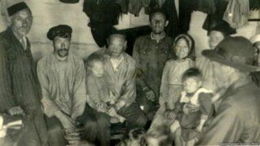 Нарымский край. Группа ссыльных 1930 гг.