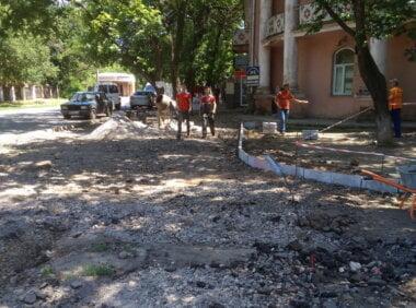 ремонт тротуара в Корабельном районе