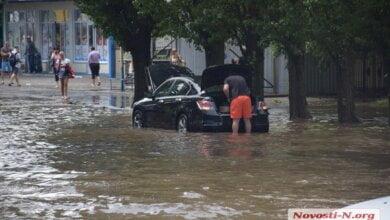 После мощного ливня в Николаеве затопило часть улиц | Корабелов.ИНФО image 8