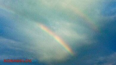 двойная радуга над Корабельным районом