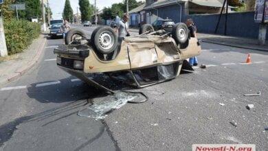 В Николаеве «Хонда» перевернула «Жигули» на крышу — трое пострадавших   Корабелов.ИНФО image 1