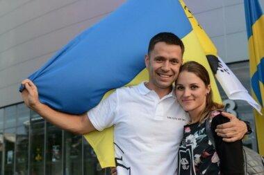 Владислав Невеселый с женой