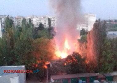 пожар на территории школы № 48