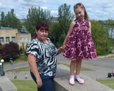 Ольга с дочкой Аминатой