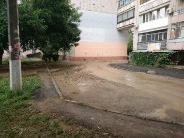 Грязный двор (фото Сергея Жайворонка)