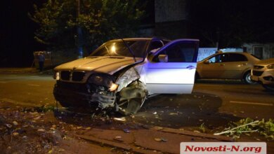 В Николаеве пьяный водитель на «БМВ» протаранил «Хюндай» | Корабелов.ИНФО image 1