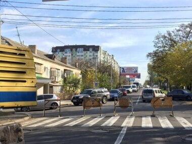 """""""Существует возможность оползня"""", - Херсонское шоссе в Николаеве перекрыли надолго из-за аварии на теплотрассе"""