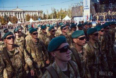 Ко Дню защитника силовики Николаева прошлись торжественным маршем по Соборной площади