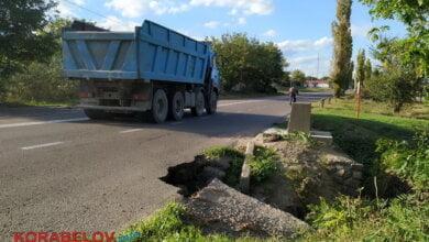 Провал за провалом: фуры продолжают крушить дороги в Корабельном районе | Корабелов.ИНФО image 2
