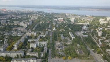 Корабельный район (6 и 7 мкрн), по центру - ул. Океановская