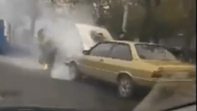 На ходу загорелась Audi, ехавшая по проспекту Богоявленскому в Николаеве | Корабелов.ИНФО