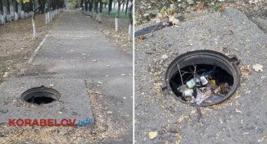 открытые люки по ул. Самойловича (20.10.2018)