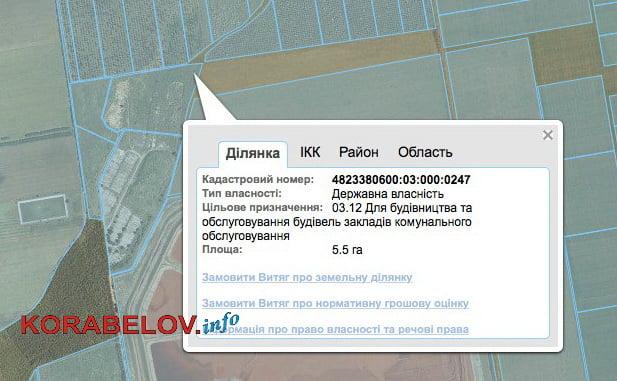 земля под полигон ТБО в Витовском районе