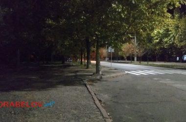 темный тротуар по пр. Корабелов