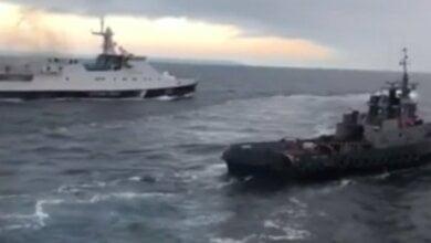 «Дави его!» Видео тарана российским кораблем украинского буксира в Керченском проливе | Корабелов.ИНФО