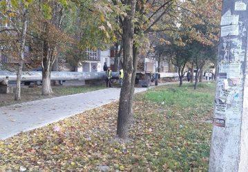уборка на ул. Океановской