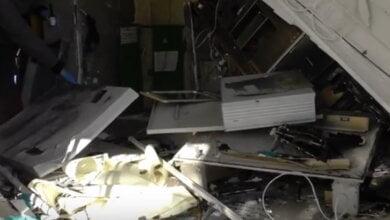 взорванный банкомат на пр. Корабелов