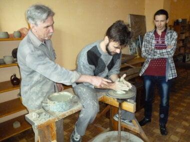 Сергей Глушко (слева) проводит мастер-класс